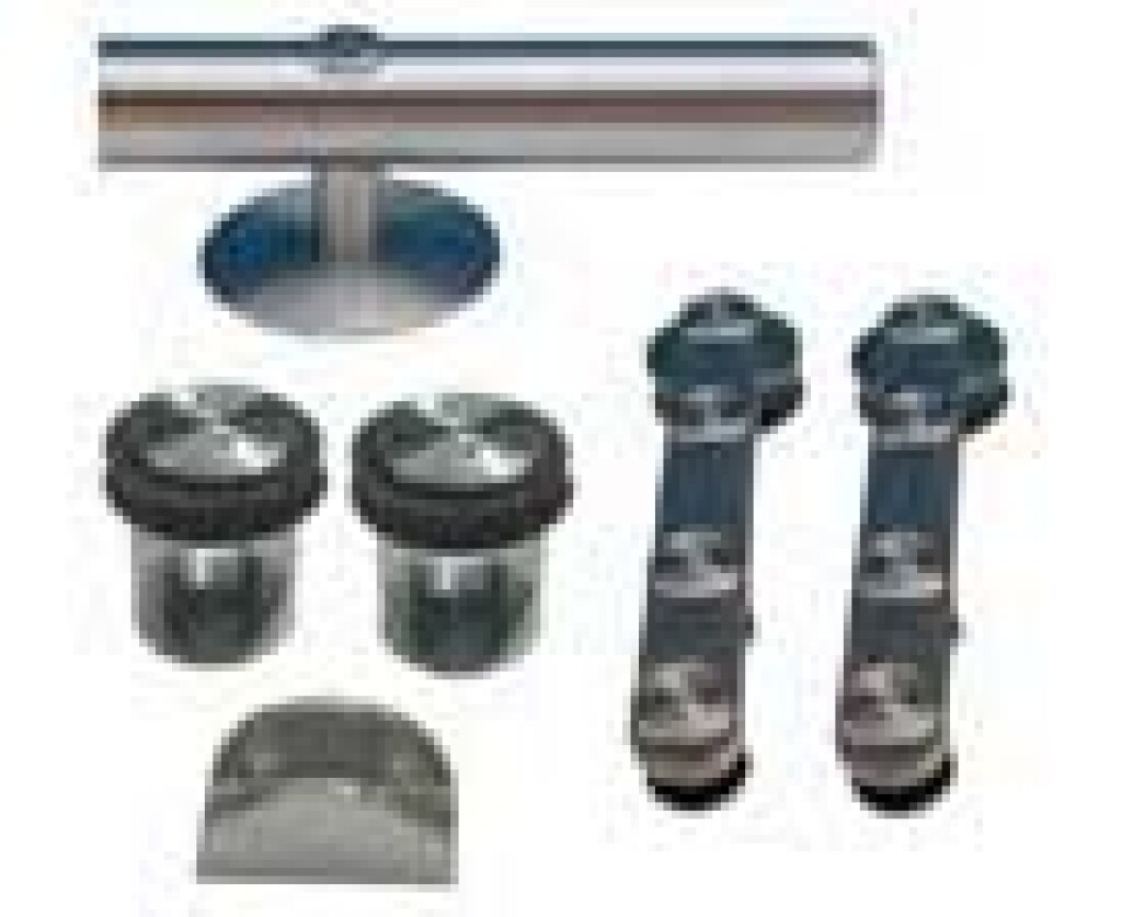 SET PORTE COULISSANT INOX FLATEC VERRE + RAIL 1800MM