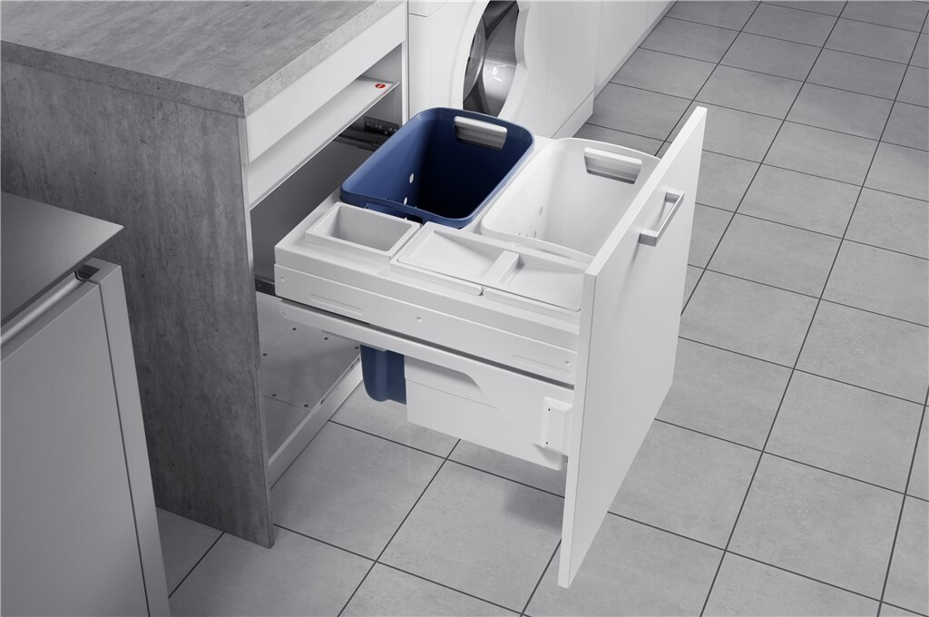 HAILO LAUNDRY CARRIER K.60- UITTREKBARE WASMAND - SOFTCLOSE